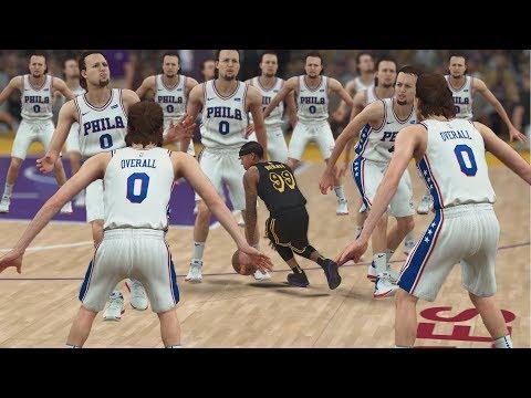One TINY 99 Overall Player Vs Fifteen GIANT 0 Overall Players! NBA 2K18 Challenge!