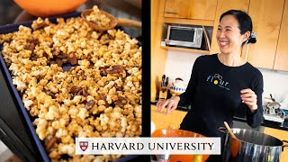 Making sticky bun popcorn at home with Joanne Chang