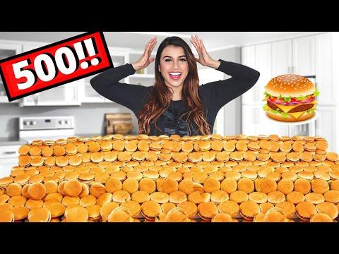تحدي طلبت 500 برجر ماكدونالدز   حصل موقف مخيف ! 😩