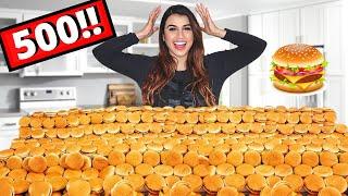 تحدي طلبت 500 برجر ماكدونالدز | حصل موقف مخيف ! 😩