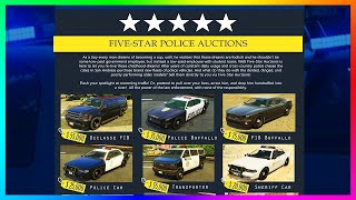 How to get cop cars in GTA 5 online and fix them