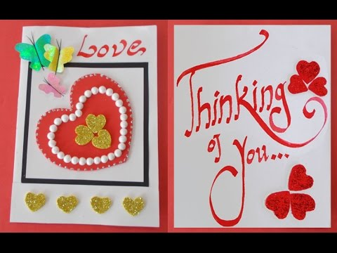 DIY Handmade Card How to Make an Easy Valentines Day Card – Hand Made Valentine Day Cards