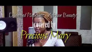 African beauty covered by precious mary