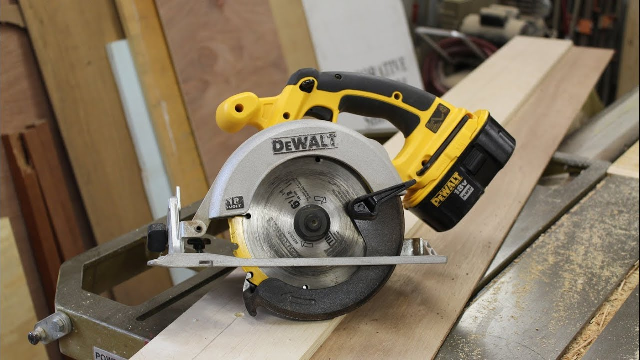 Make A Simple Track Saw Circular Saw Jig Woodworking By