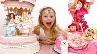 Nastya feiert ihren 6. Geburtstag mit Freunden und Familie