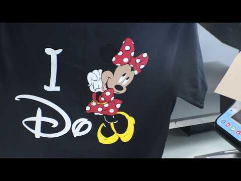 Mickey & Minnie Mouse Shirts With 4 Color HTV - How To Heat Press Multiple Colors Of Vinyl