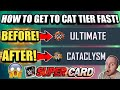 HOW TO GET TO CATACLYSM TIER VERY FAST! HOW TO GET BETTER CARDS! TIPS AND TRICKS WWE SuperCard