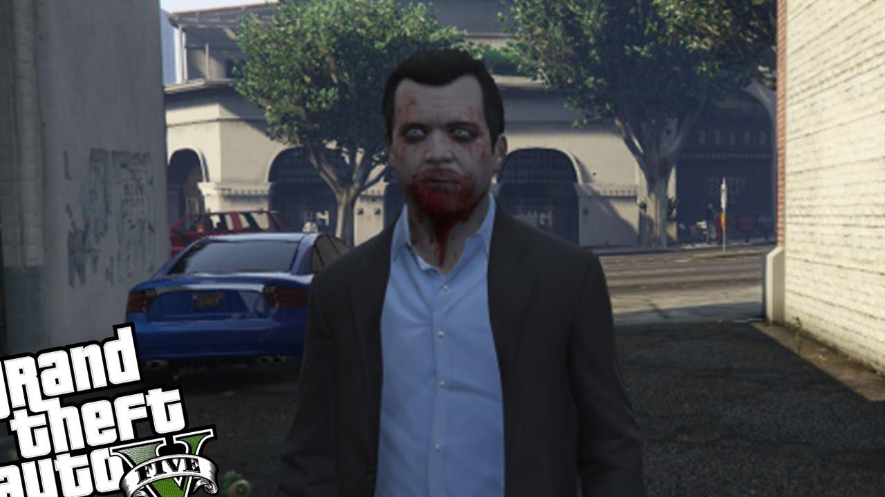 GTA 5 PC Mods - Zombie Michael