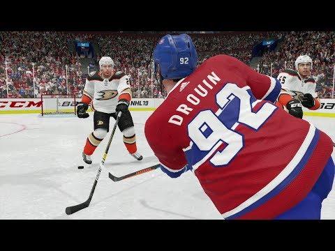 NHL 19 Anaheim Ducks vs Montreal Canadians Full Game Full Sim