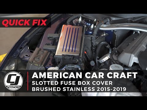 [SODI_2457]   2015-2020 Mustang COBB Front Mount Intercooler Installation - YouTube | 2015 Mustang Fuse Box Cover |  | YouTube