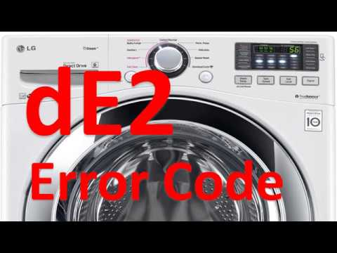 de2 Error Code SOLVED!!! LG Front Loading Washer Washing Machine