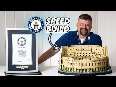 Watch a Lego 'Speed Builder' Snap Together a Colosseum in 13 Hours