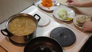 Суп из квашеной капусты/Щи/С курицей/Рецепт
