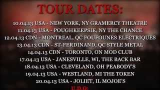 vuclip U.D.O. North American Tour 2013 Trailer