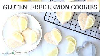 Lemon Frosted Heart Cookies | Gluten-free & Vegan Healthy Baking | Limoneira