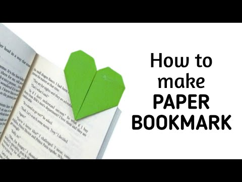 How To Make A Simple Easy Heart Shaped Paper Bookmark Diy Paper