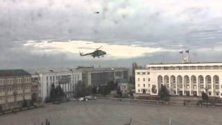 Медведев в Махачкале на вертолете Medvedev in Makhachkala on helicopter