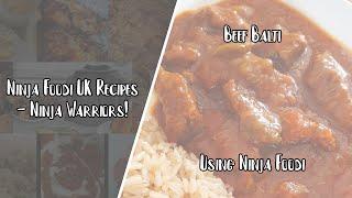 Ninja Foodi UK Recipes  Beef Balti