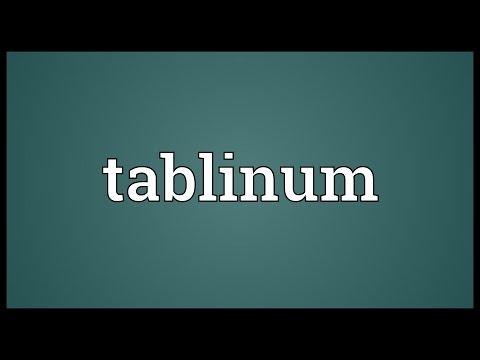 Header of tablinum