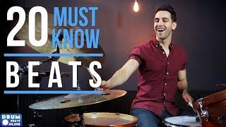 20 MUST KNOW Drum Beats For Beginner Drummers | Drum Beats Online