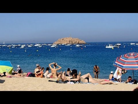 Tossa de Mar Beach Catalonia Spain June 2018