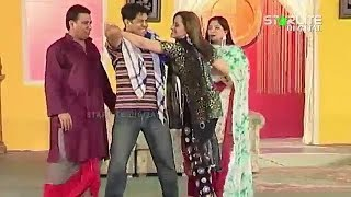 Nasir Chinyoti and Nargis New Pakistani Punjabi Stage Drama Full Comedy Clip