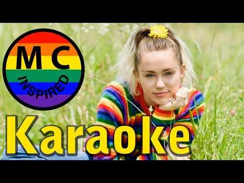 Miley Cyrus - Inspired | KARAOKE
