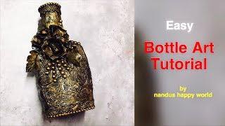 Bottle Decorating ideas | Bottle Art | Bottle Crafts | Bottle decoration | Glass bottle art ideas