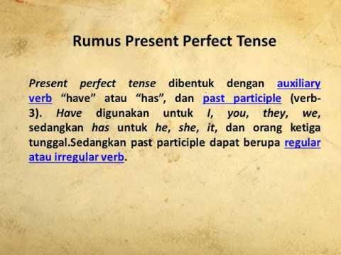 Simple Past Tense & Present Perfect Tense
