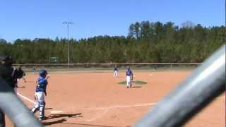 9u travel baseball player