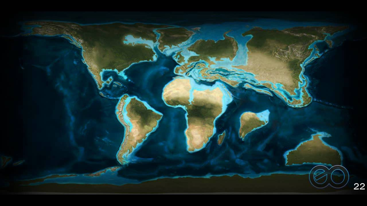 Miocene World Map.Earth S Palaeogeography Continental Movements Through Time Youtube