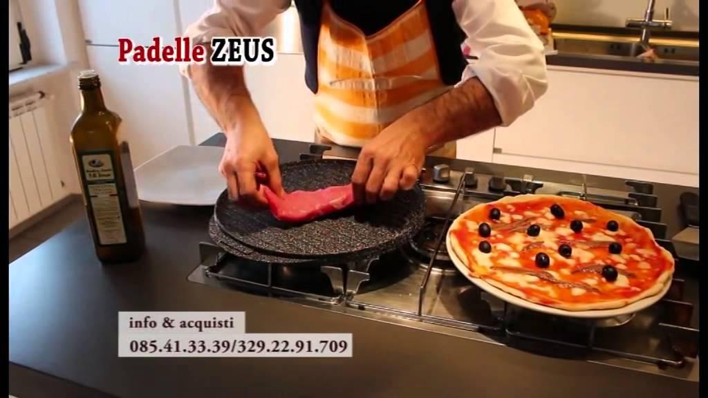 Padelle in pietra lavica  Cucina naturale  No olio No grassi No fumo  Padelle Zeus  YouTube