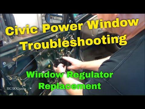Honda Power Window Troubleshooting Civic 1996-2000 (with ICU) – Window Regulator Replacement