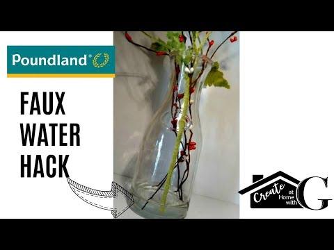 🍂Poundland UK's Dollar Tree Faux Water Hack