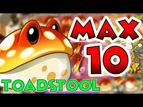 Plants vs Zombies 2 Max Level UP - Toadstool Max Level 10 EPIC Power UP