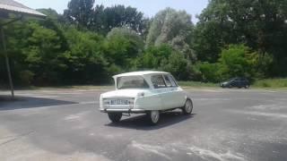 Prova motore Citroën ami 6 del 1962