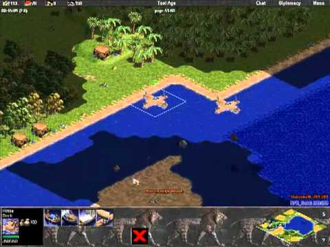 RFR_Gold vs UnbrokeN: Age of Empires Rise of Rome Multiplayer Gameplay