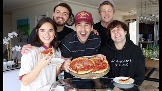 DEEP DISH PIZZA MUKBANG WITH DAVID DOBRIK, NATALIE, ZANE AND JASON!!
