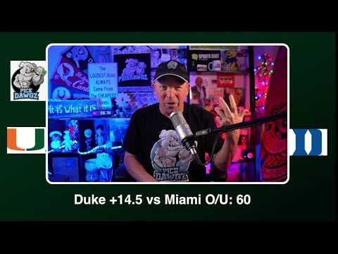 Duke vs Miami 12/5/20 Free College Football Picks and Predictions CFB Tips
