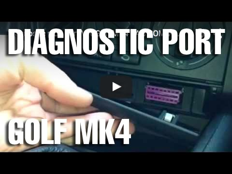 diagnostic plug port vw golf mk4 vag com youtube. Black Bedroom Furniture Sets. Home Design Ideas