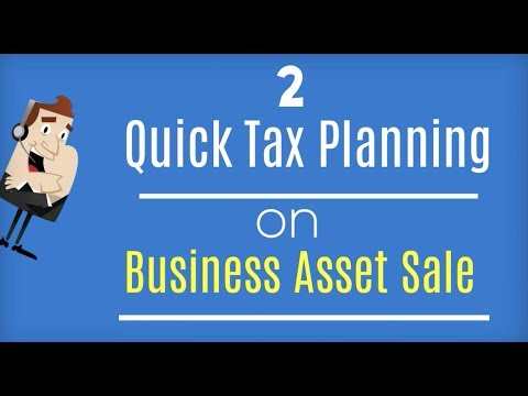 Sale of Depreciable Asset : 2 Quick Tax Planning Tips