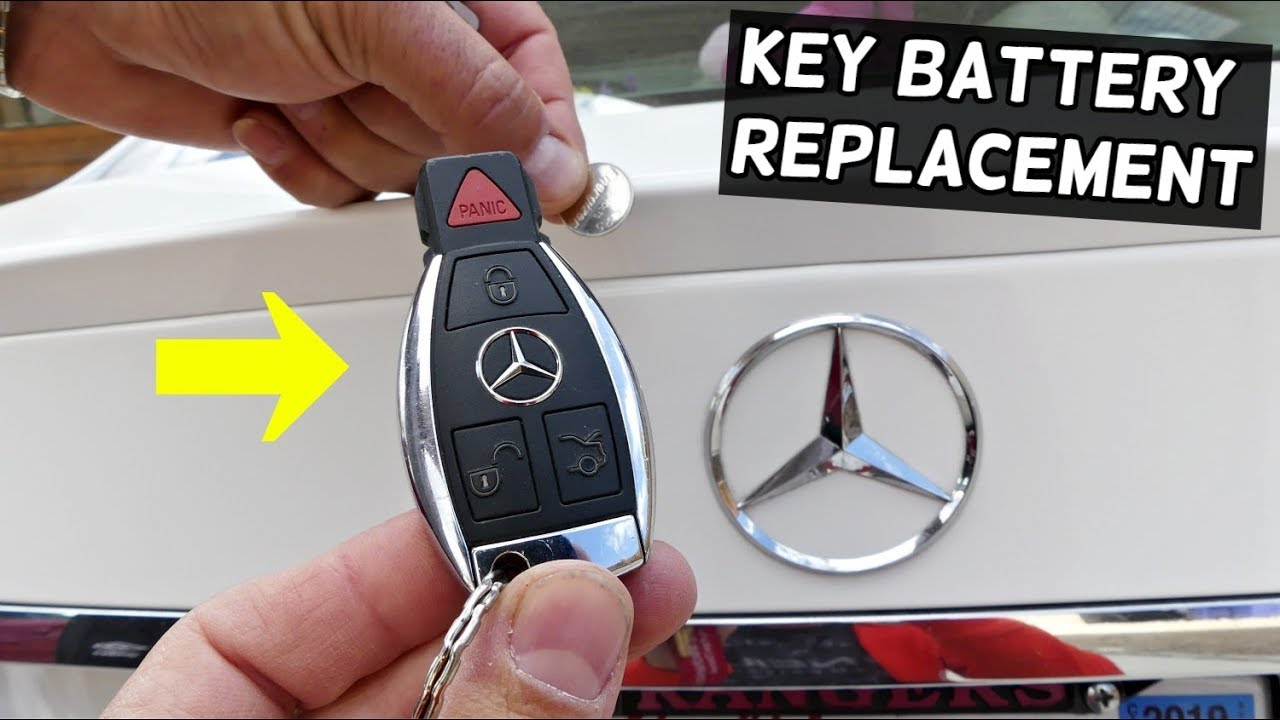HOW TO REPLACE KEY BATTERY ON MERCEDES C CLASS E CLASS S ...