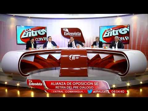 Marvin Ponce y Ricardo Salgado esta mañana en el foro de Canal 11