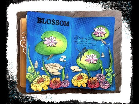 Blossom Art Journal Page