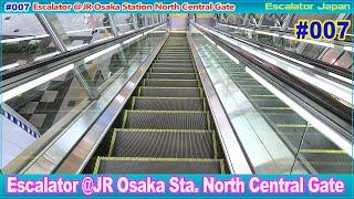 [4K]エスカレーター JR大阪駅中央北口側/JR Osaka Station North Central Gate Escalator [Escalator Japan]No.007