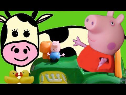 en la vieja factoría con Peppa Pig | música para niños | Spanish for kids