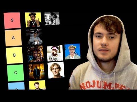 The Youtube Rapper Tier List (KSI, Deji, Dax, Crypt)