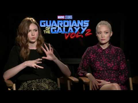 Guardians of the Galaxy Vol. 2: Karen Gillan & Pom Klementieff Red Carpet Official Movie Interview