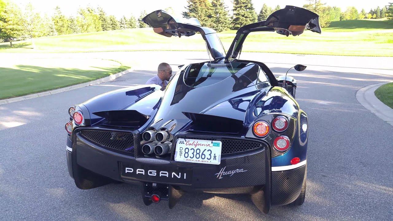 Pagani Huayra Idle and Engine Rev Toronto in HD - YouTube