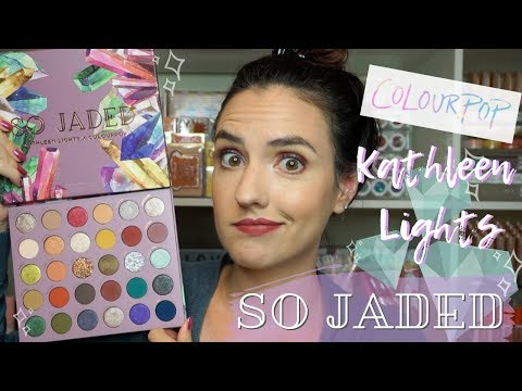 ColourPop + Kathleen Lights SO JADED Palette | Swatches, Tutorial + Review thumbnail